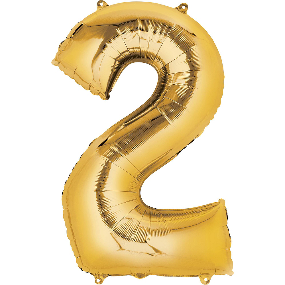 34in Air-Filled Gold 2019 Graduation Balloon Centerpiece Kit Image #3