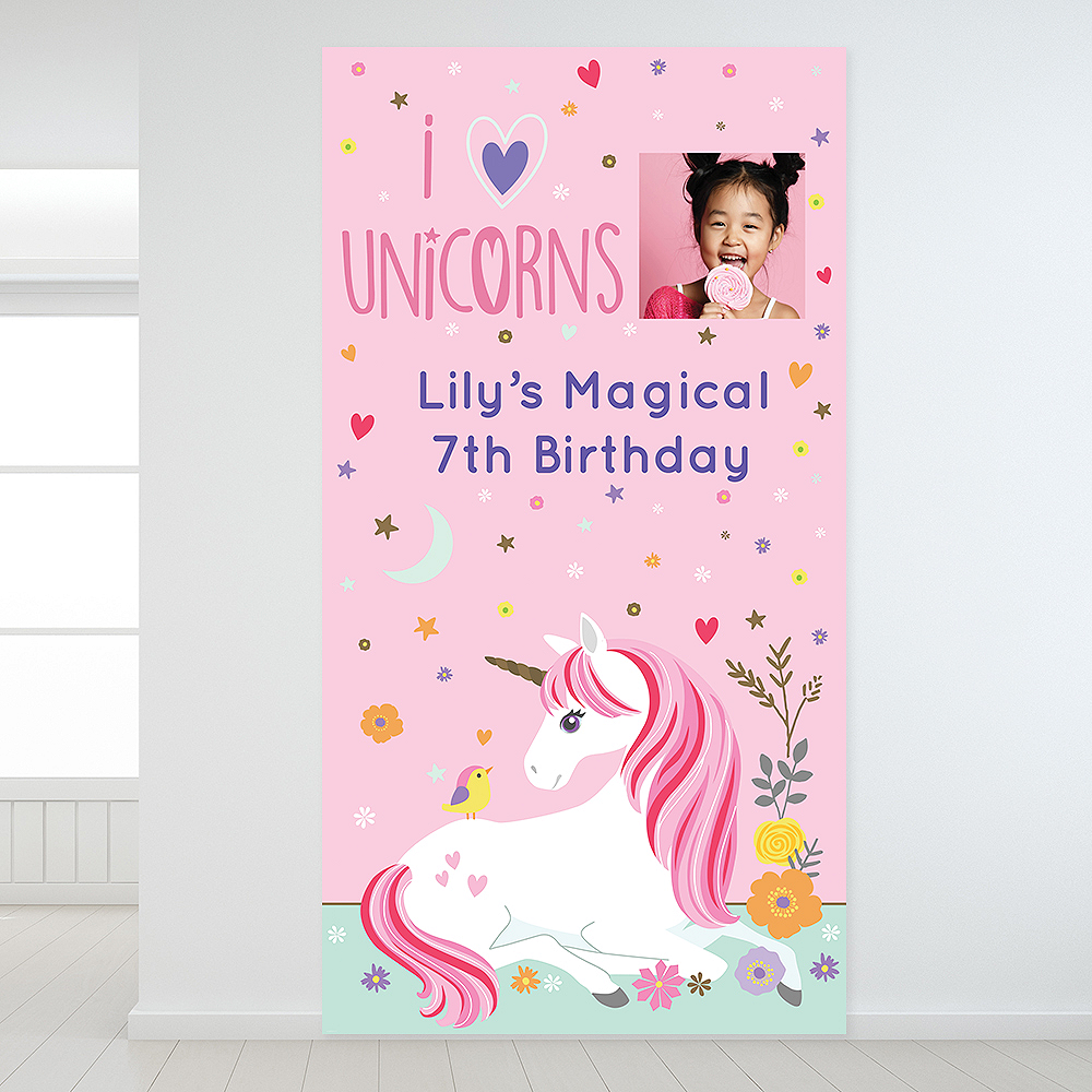 Custom Magical Unicorn Photo Backdrop Image #1