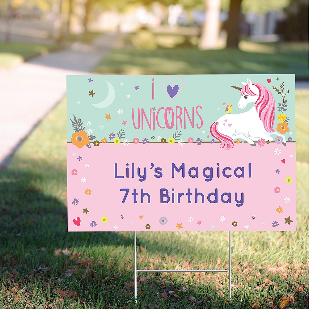 Custom Magical Unicorn Yard Sign Image #1