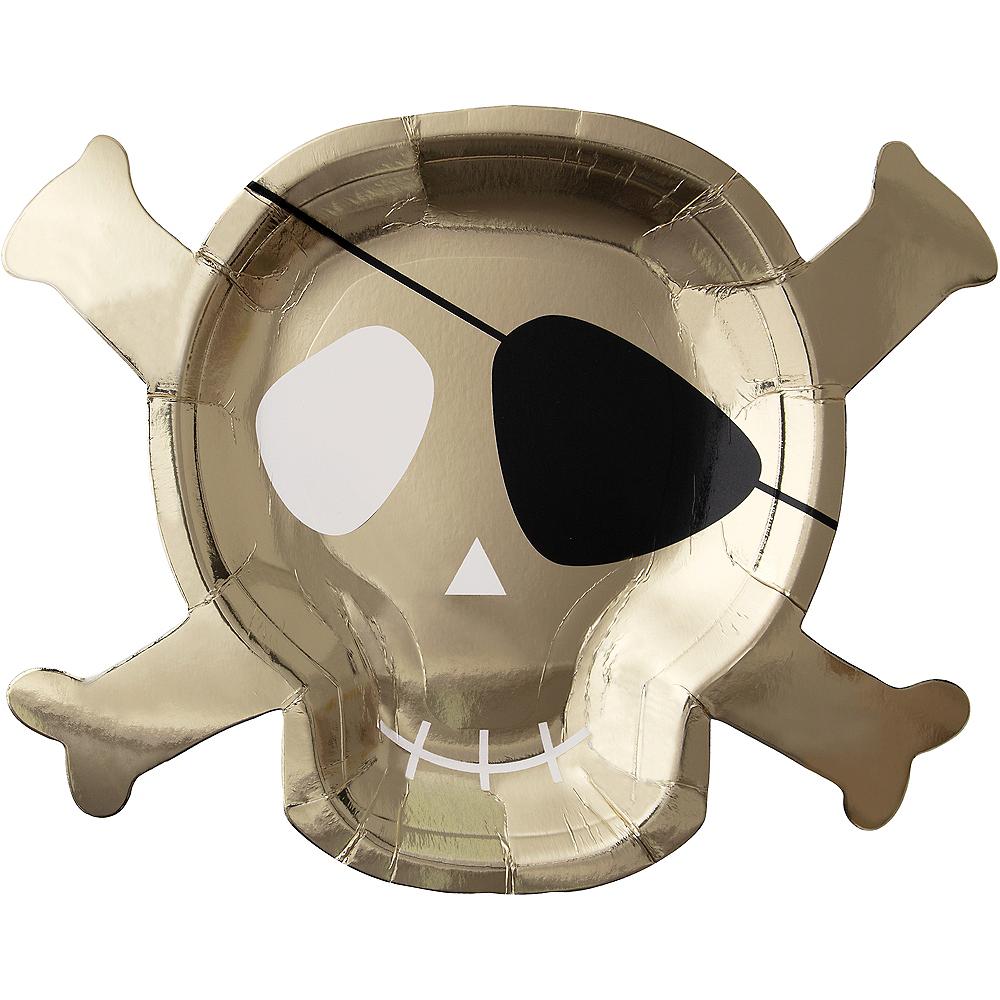 Shaped Skull & Crossbones Dinner Plates 8ct Image #1