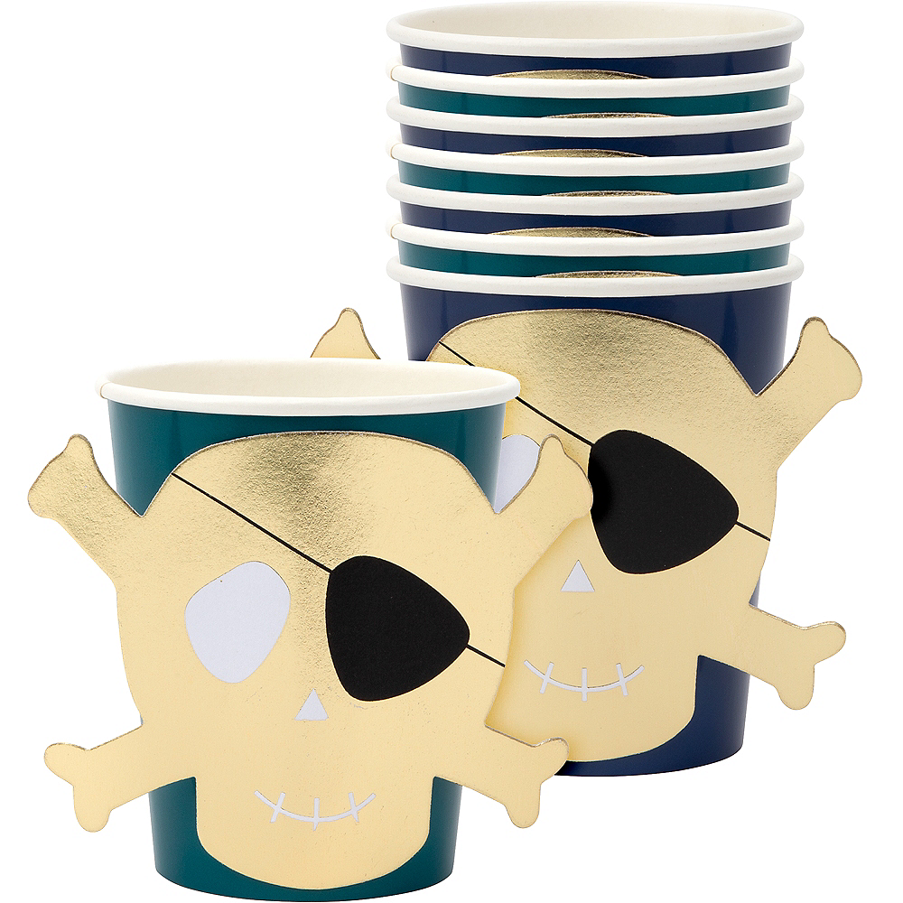 Pirate Cups 8ct Image #1