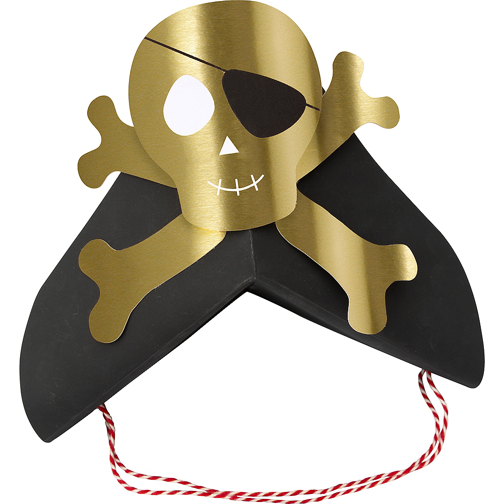 Pirate Hats 8ct Image #1