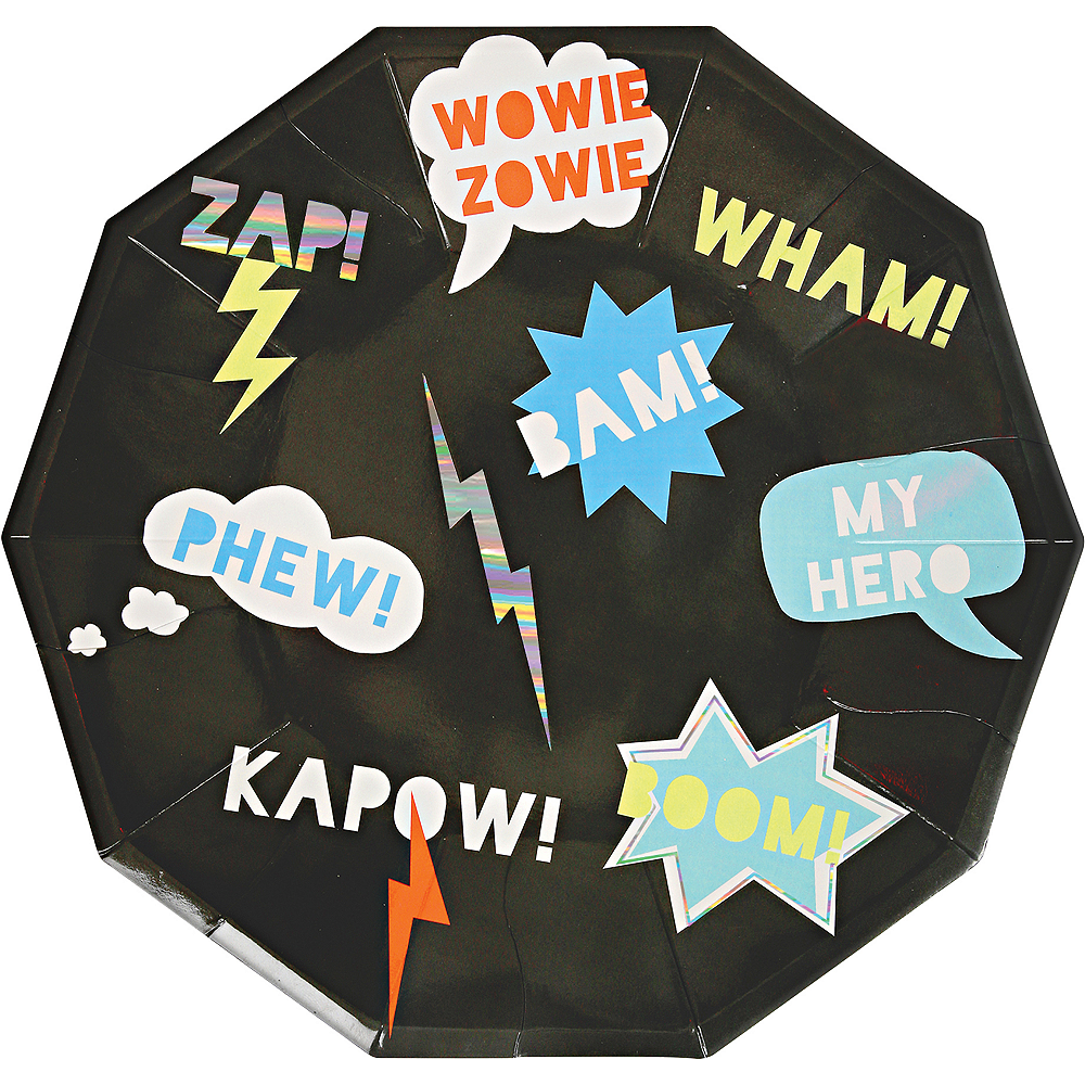 Zap! Superhero Lunch Plates 8ct Image #1