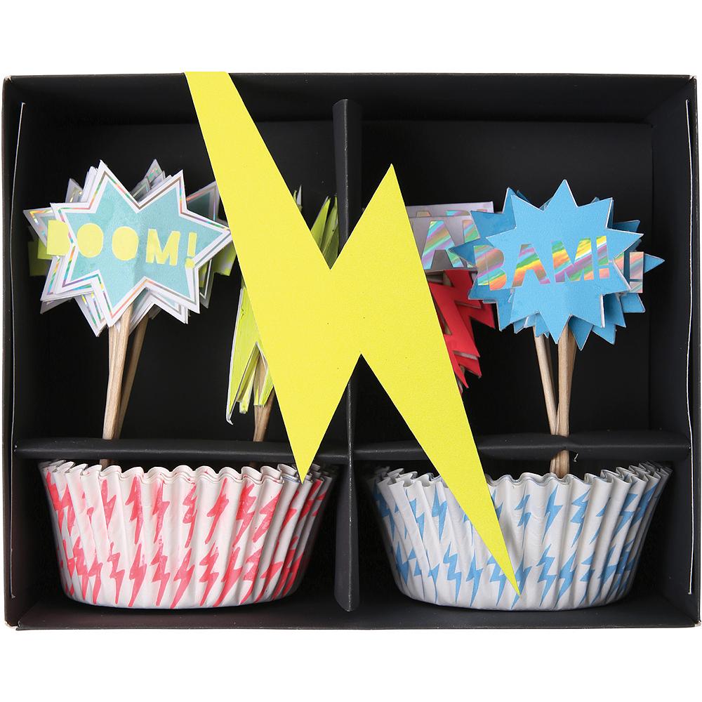 Zap! Superhero Cupcake Decorating Kit for 24 Image #1