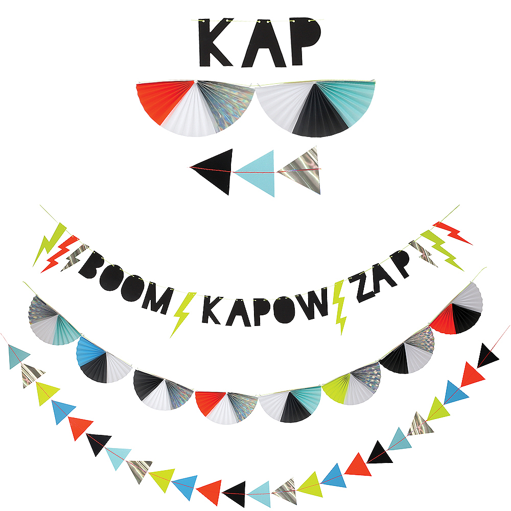 Zap! Superhero Garland Kit Image #1