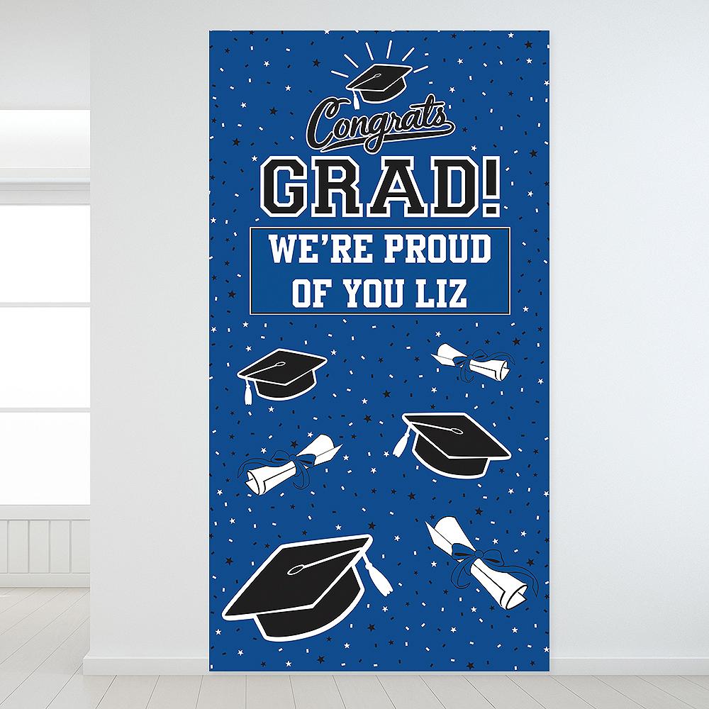 Custom Blue Graduation Backdrop Image #1