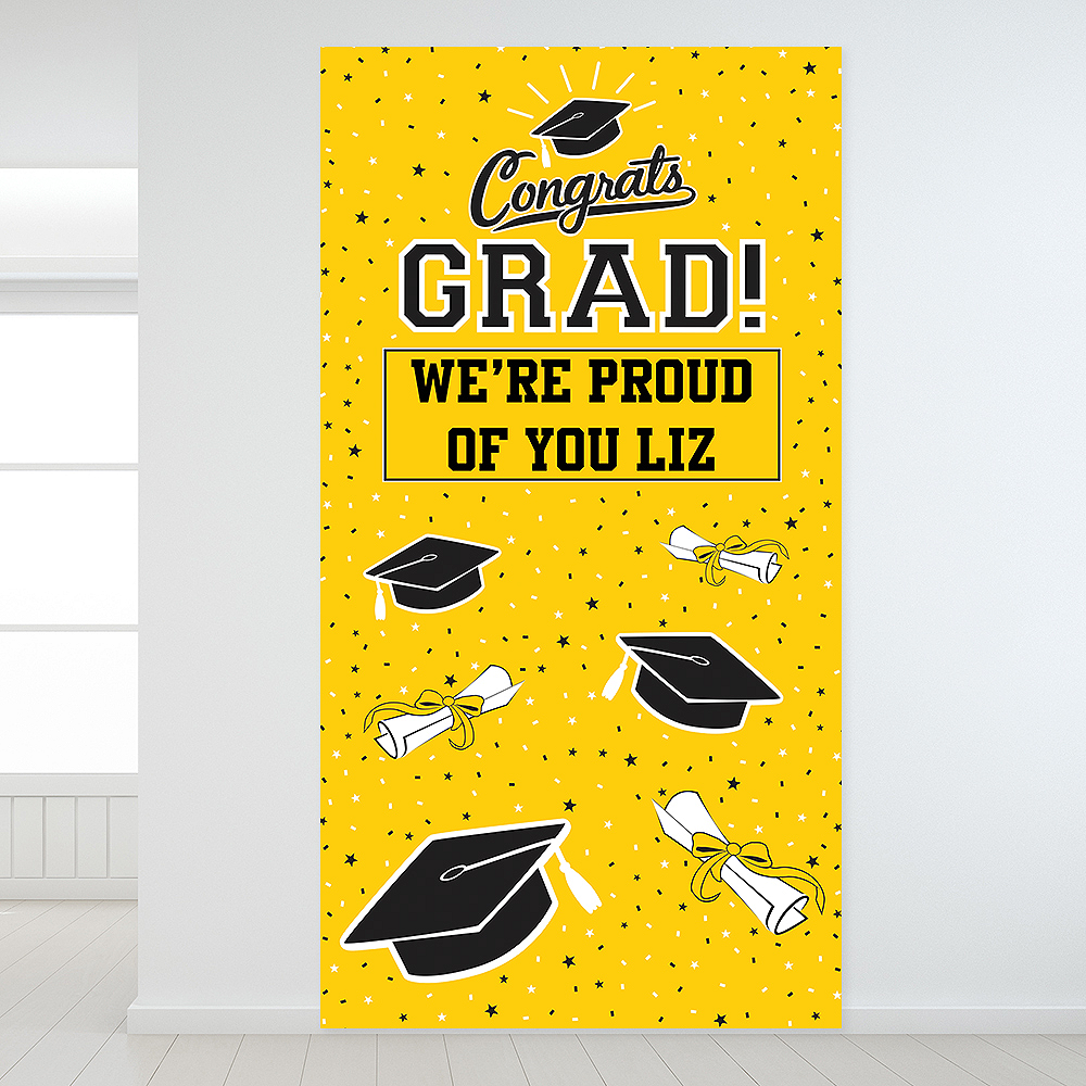 Custom Yellow Graduation Backdrop Image #1