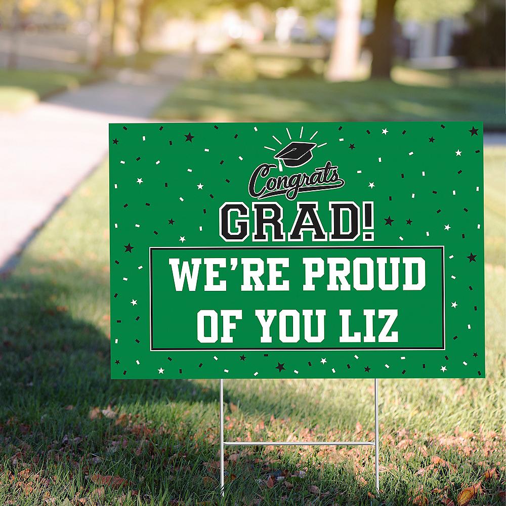 Custom Green Graduation Yard Sign Image #1