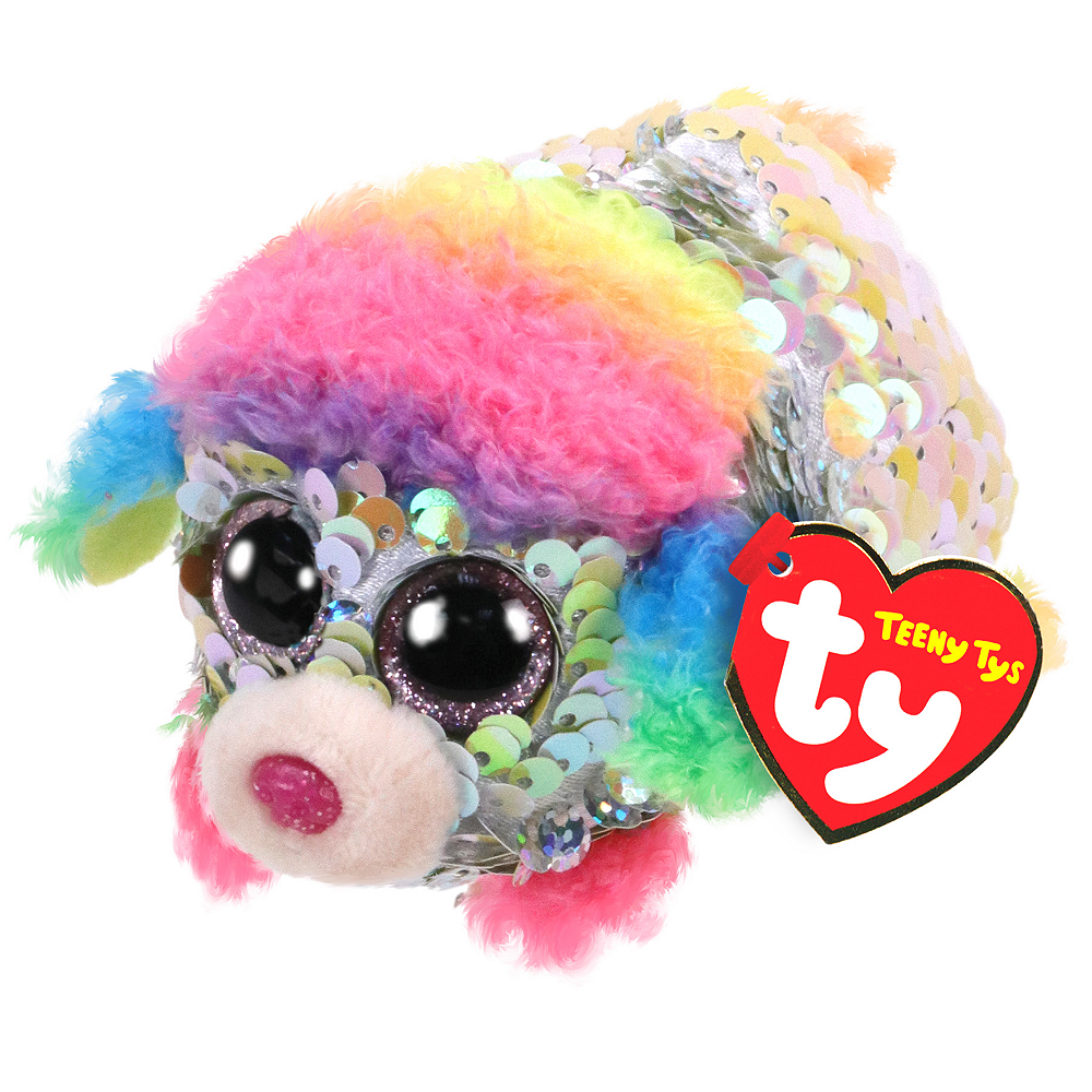 Nav Item for Rainbow Teeny Tys Poodle Plush Image #1
