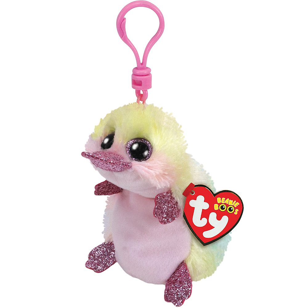 Nav Item for Clip-On Petunia Beanie Boo Platypus Plush Image #1