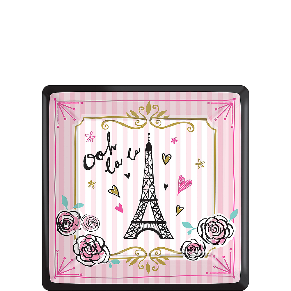 A Day in Paris Dessert Plates 8ct Image #1