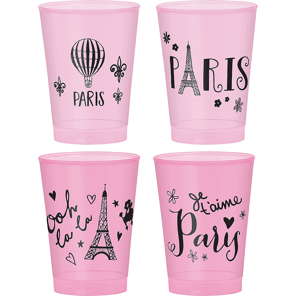 A Day in Paris Plastic Cups 20ct Image #1