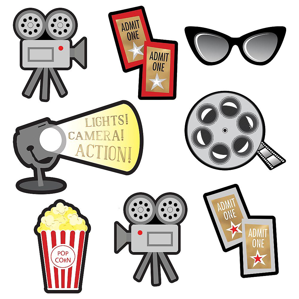 Movie Night Cardstock Cutouts 12pc Image #6