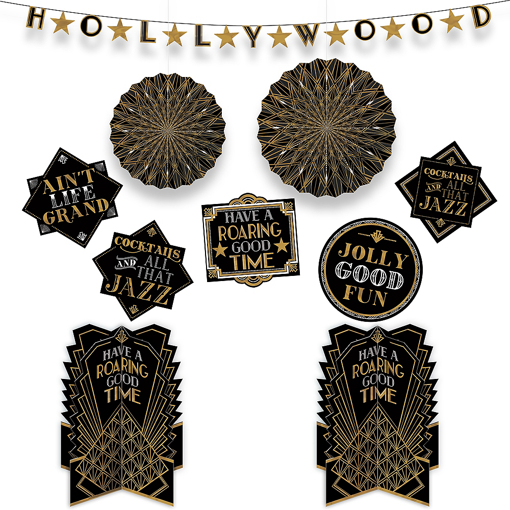 Nav Item for Metallic Hollywood Room Decorating Kit 10pc Image #1