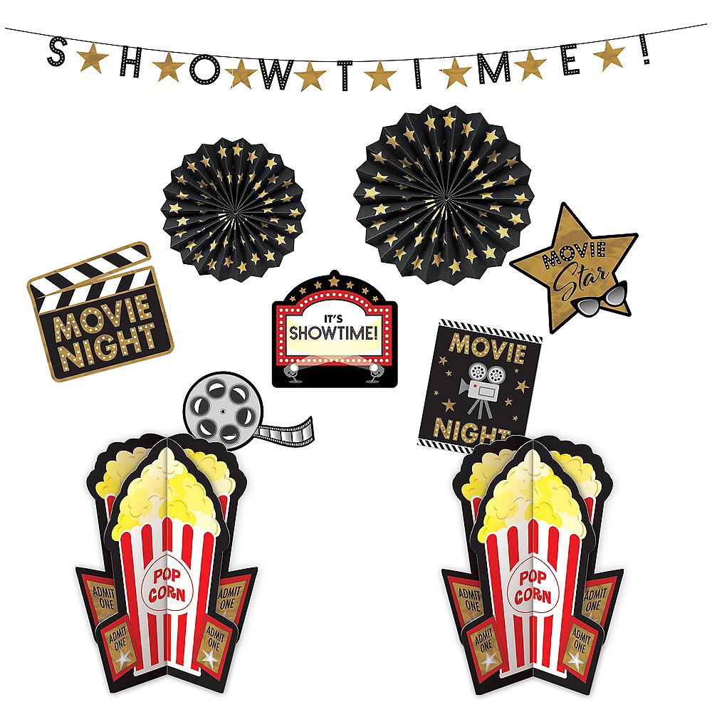 Movie Night Room Decorating Kit 10pc Image #1