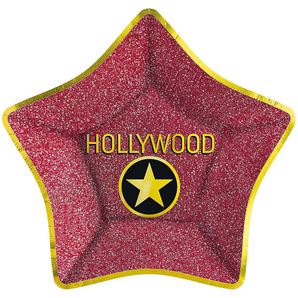 Metallic Hollywood Star Dinner Plates 8ct Image #1