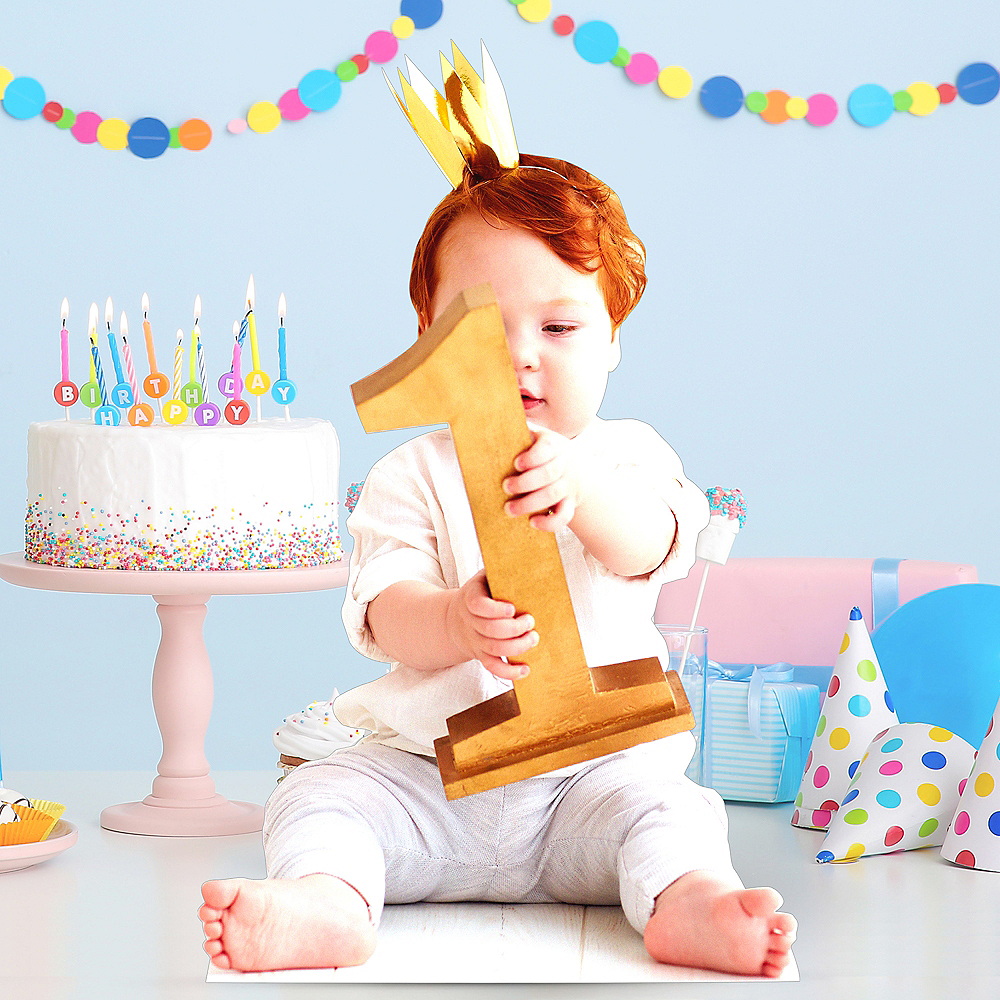 Custom 1st Birthday Centerpiece Standee Image #1