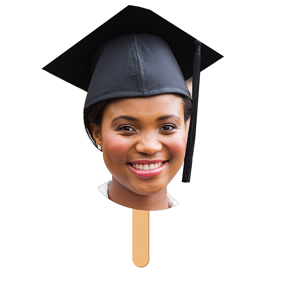 Custom Graduation Fan Faces 6ct    Image #1