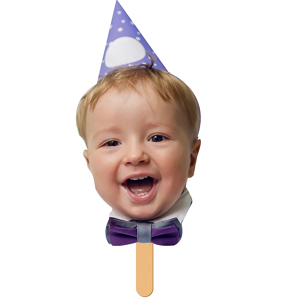 Custom 1st Birthday Fan Faces 6ct Image #1