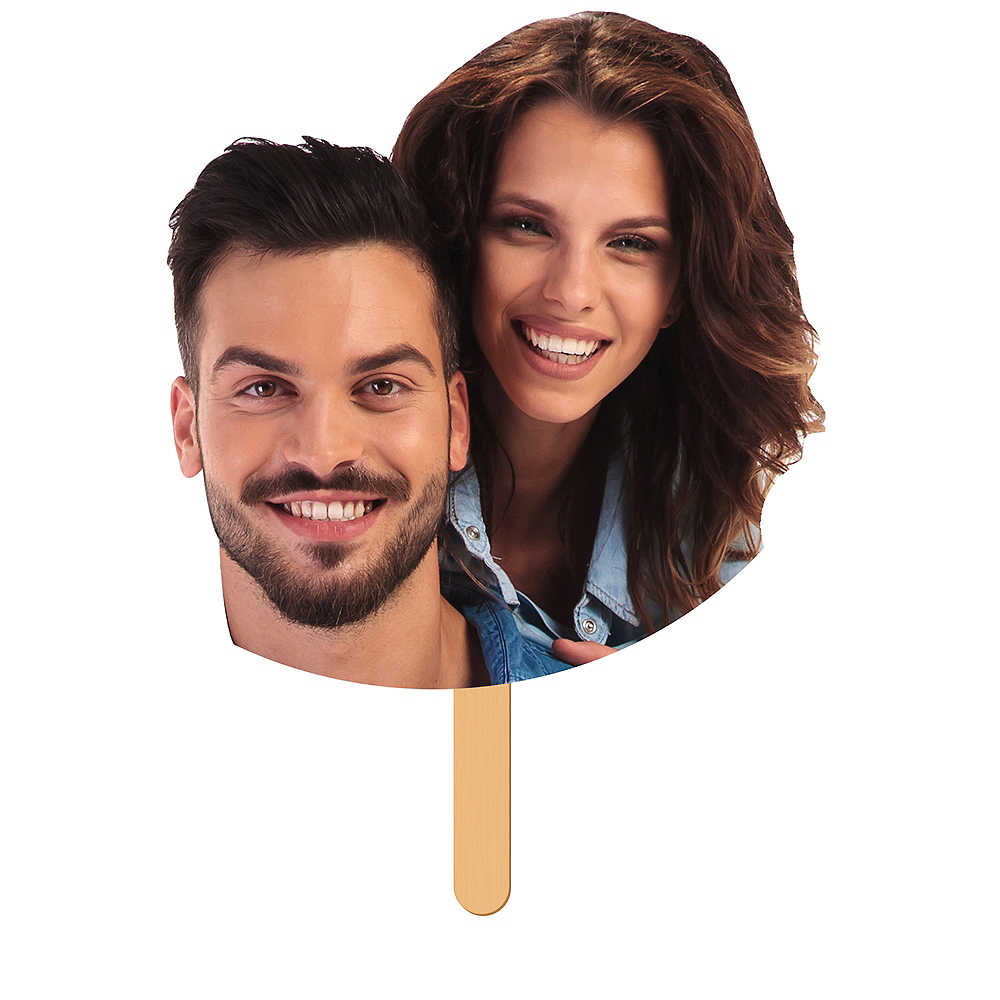 Custom Wedding Fan Faces 6ct Image #1