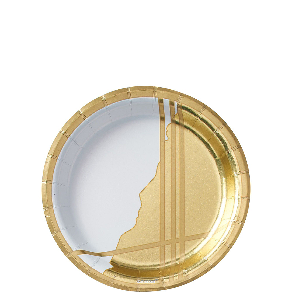 Gold Facet Tableware Kit for 16 Guests Image #3
