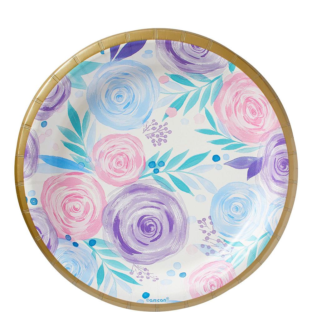 Pastel Floral Tableware Kit for 16 Guests Image #2