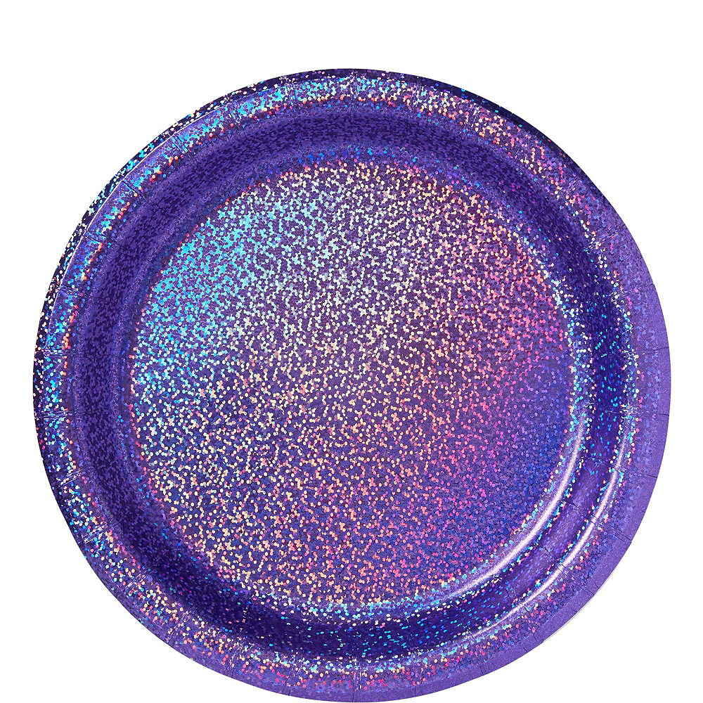 Prismatic Purple Tableware Kit for 16 Guests Image #3