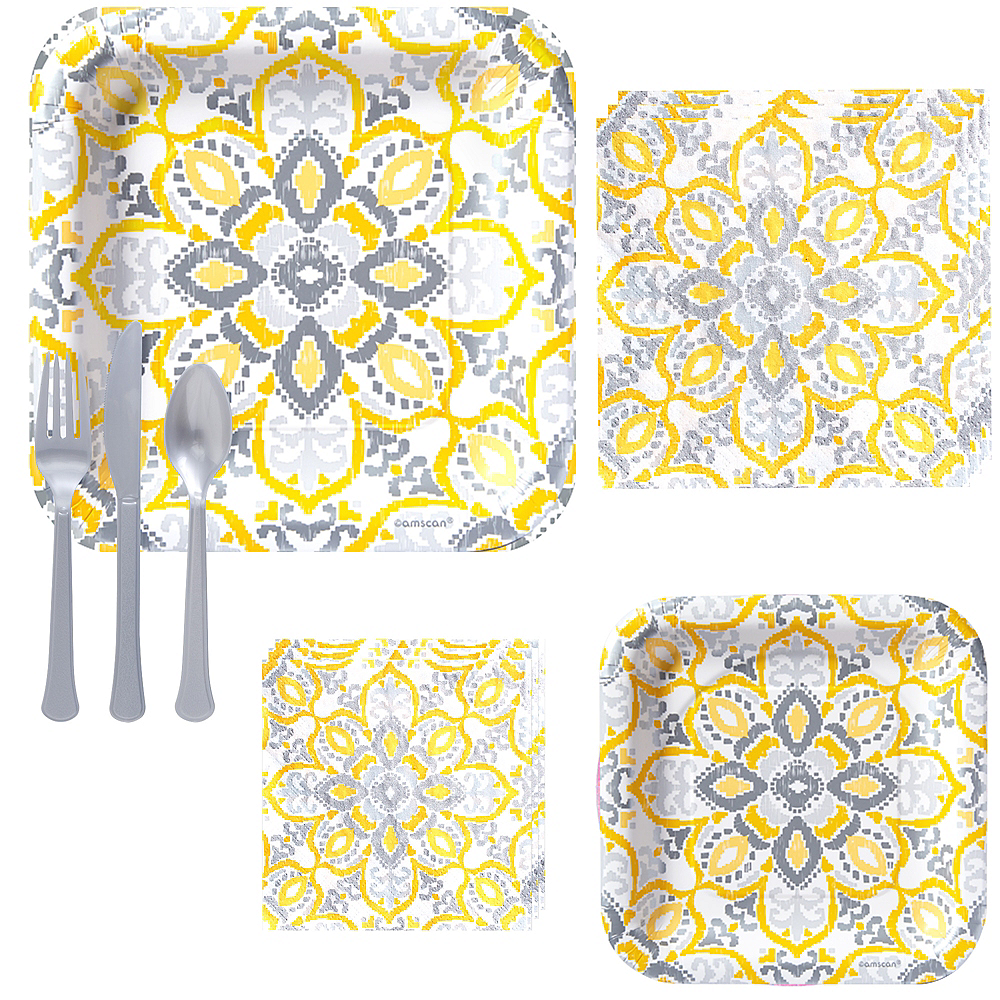 Yellow Tile Tableware Kit for 16 Guests Image #1