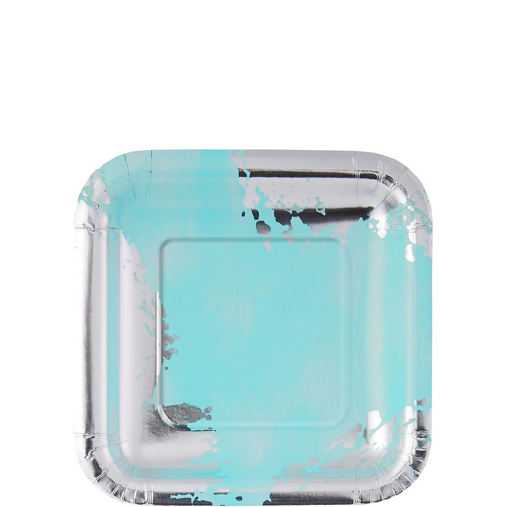 Robin's Egg Blue Brushstroke Tableware Kit for 16 Guests Image #2