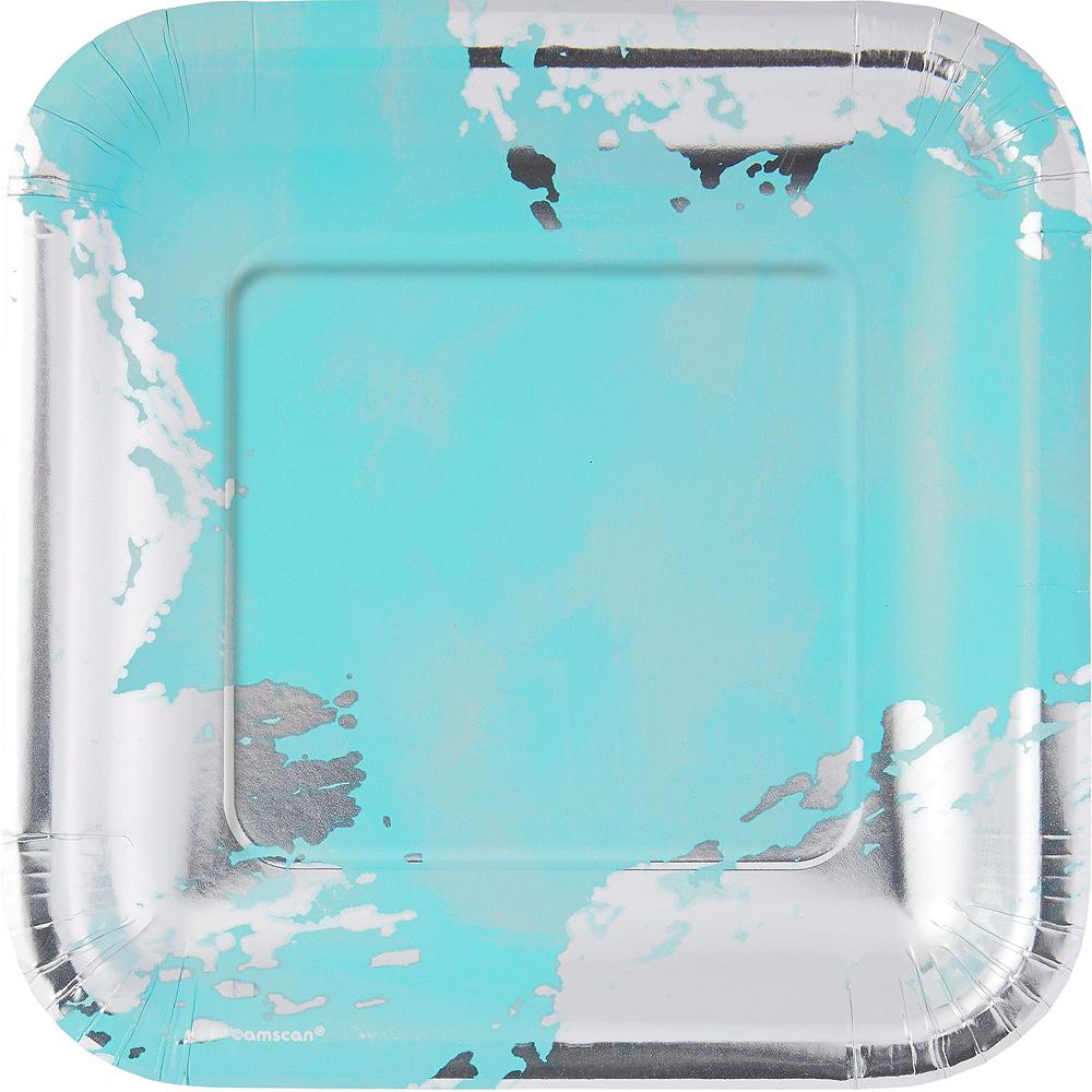 Robin's Egg Blue Brushstroke Tableware Kit for 16 Guests Image #3