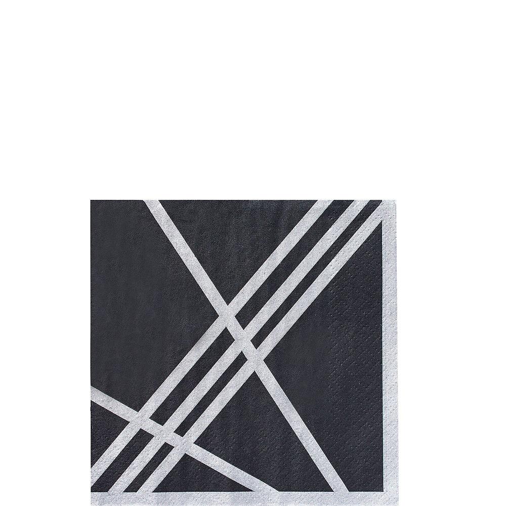 Black Facet Tableware Kit for 16 Guests Image #4