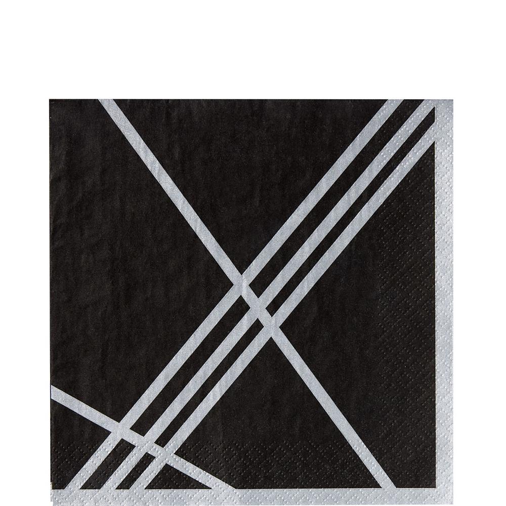 Black Facet Tableware Kit for 16 Guests Image #5