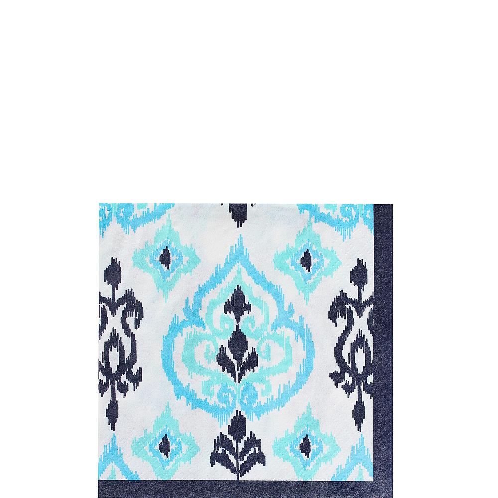Caribbean Blue Ikat Tableware Kit for 16 Guests Image #5