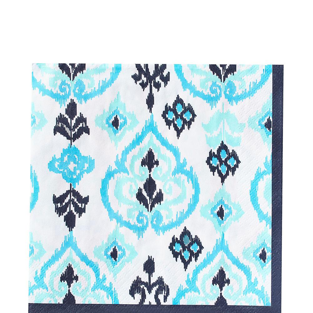 Caribbean Blue Ikat Tableware Kit for 16 Guests Image #6