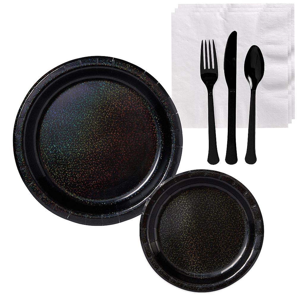 Prismatic Black Tableware Kit for 16 Guests Image #1