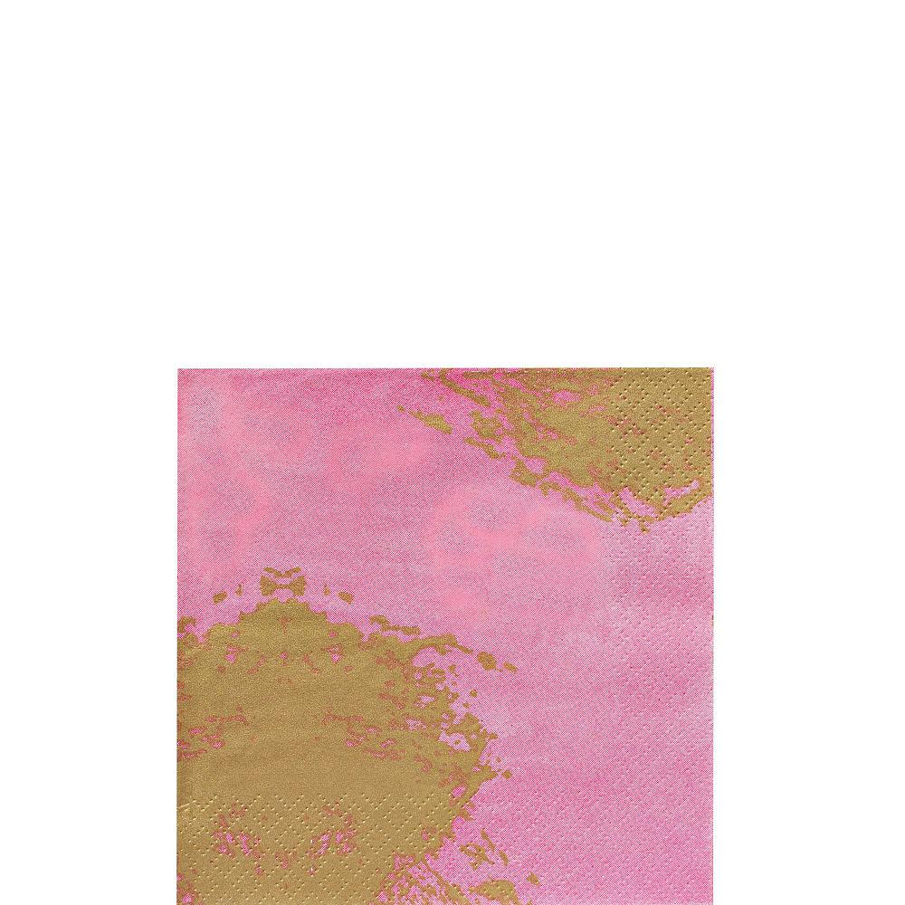 Pink Brushstroke Tableware Kit for 16 Guests Image #4