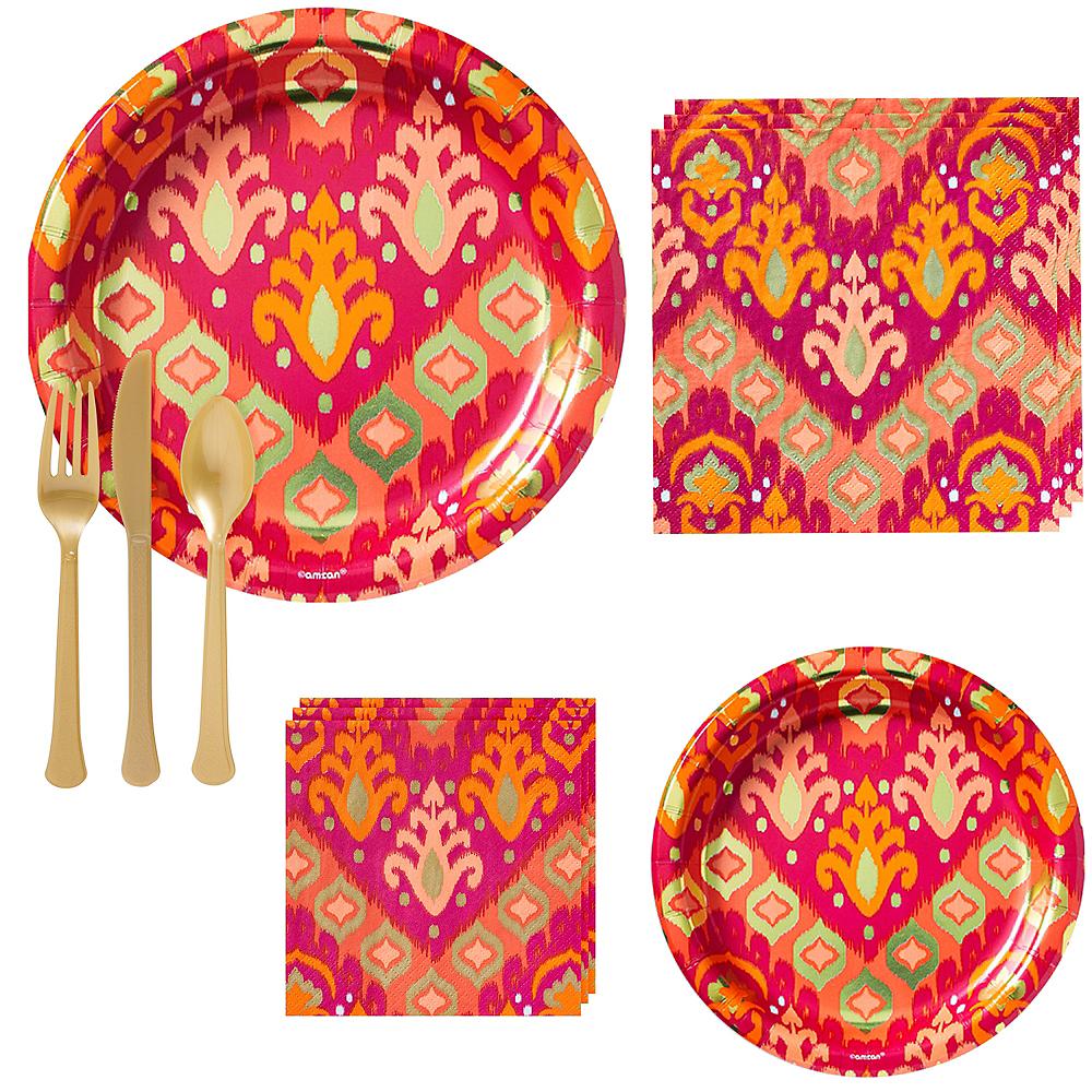 Orange Ikat Tableware Kit for 16 Guests Image #1
