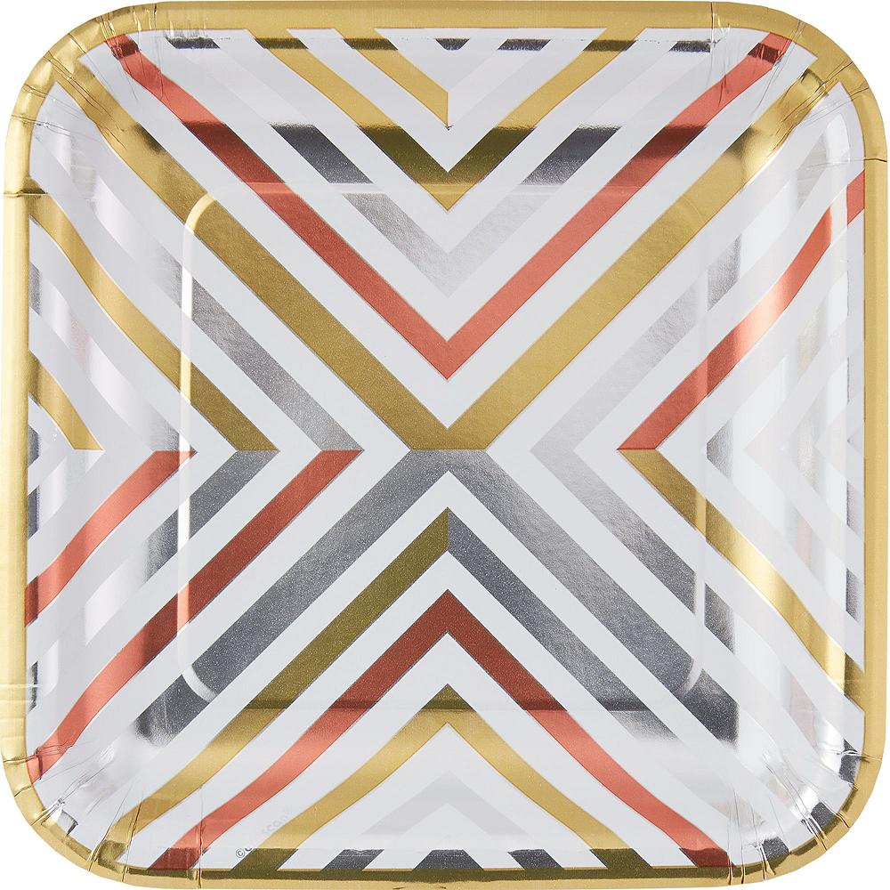 Mixed Metallic Geometric Tableware Kit for 16 Guests Image #5