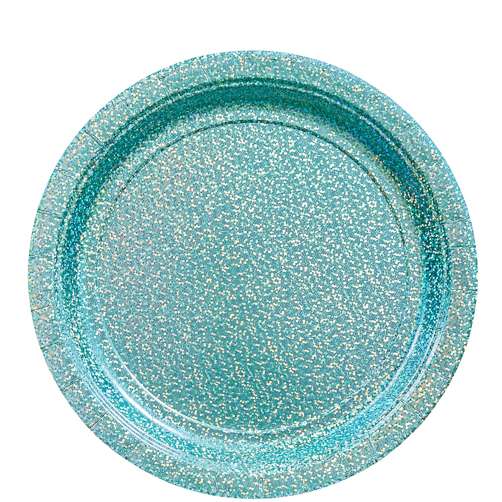 Prismatic Robin's Egg Blue Tableware Kit for 16 Guests Image #3