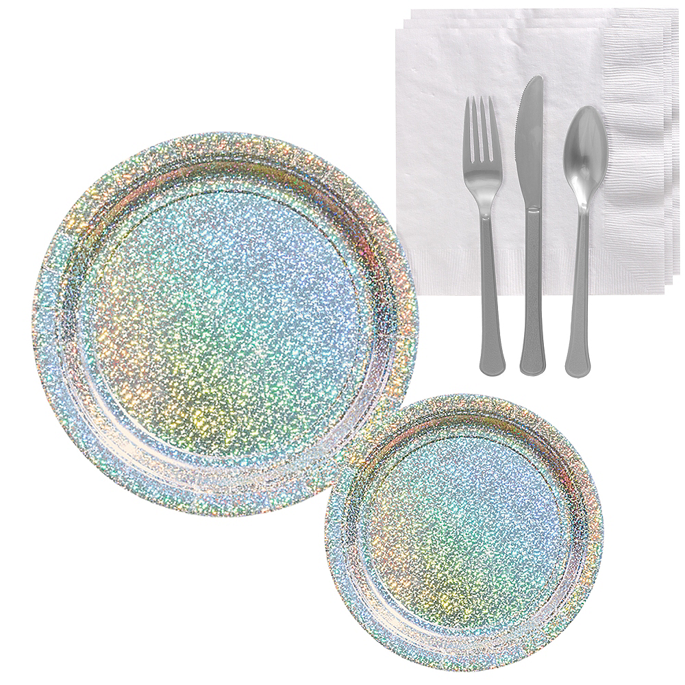 Prismatic Silver Tableware Kit for 16 Guests Image #1