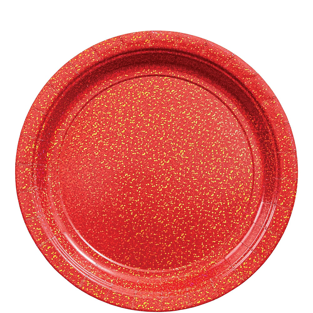 Prismatic Red Tableware Kit for 16 Guests Image #3