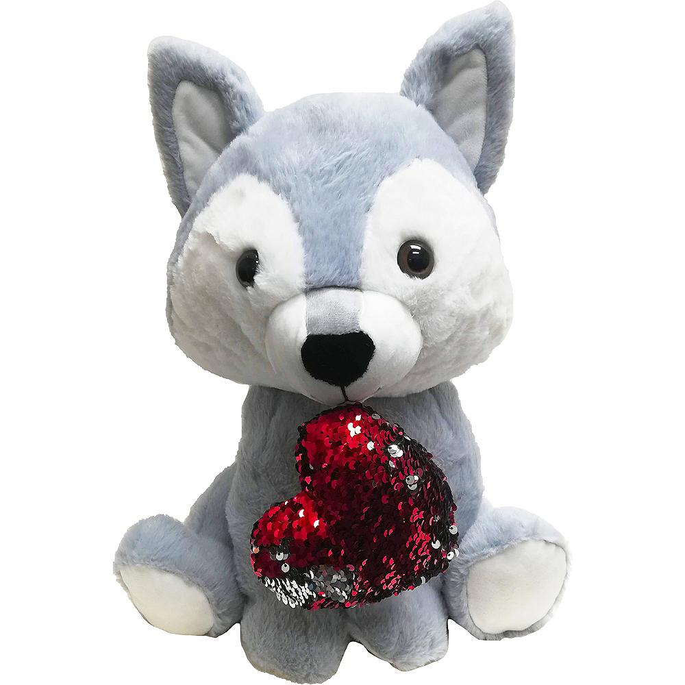 Valentine's Day Husky Plush Image #1