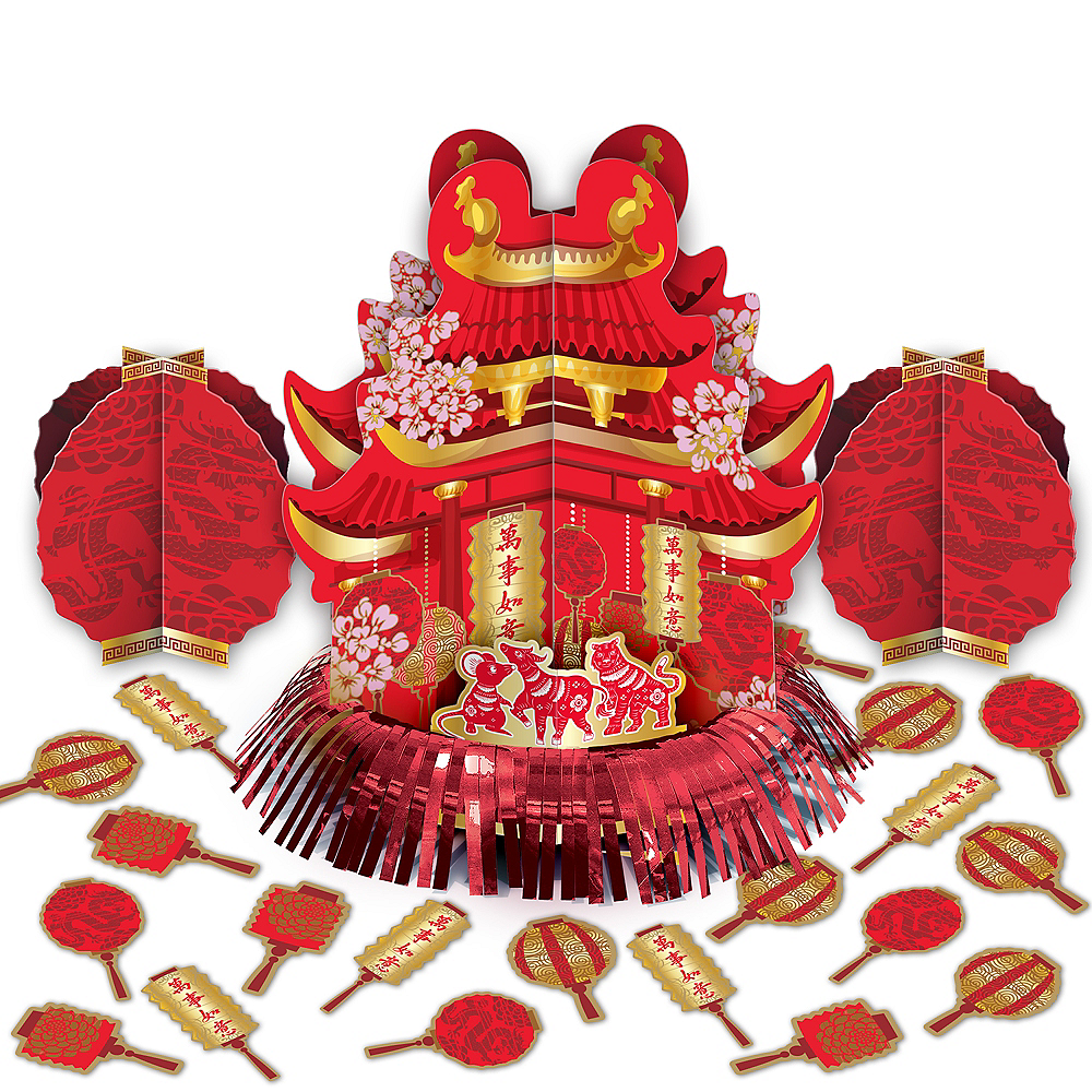 Chinese New Year Table Decorating Kit 23pc Image #1