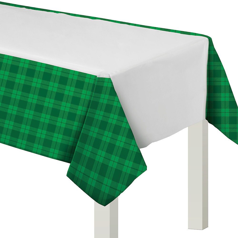 St. Patrick's Day Plaid  Table Cover Image #1
