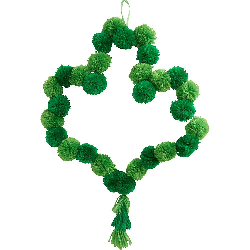 Shamrock Pom-Pom Wreath Image #1