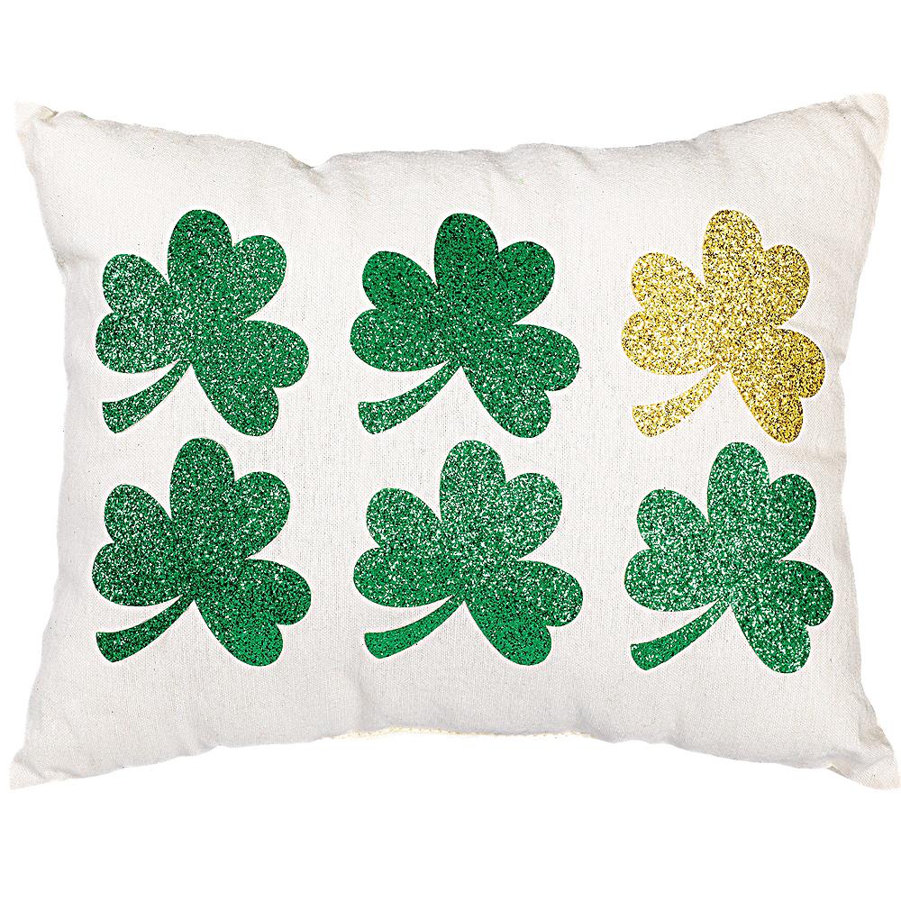 Glitter Shamrock Pillow Image #1