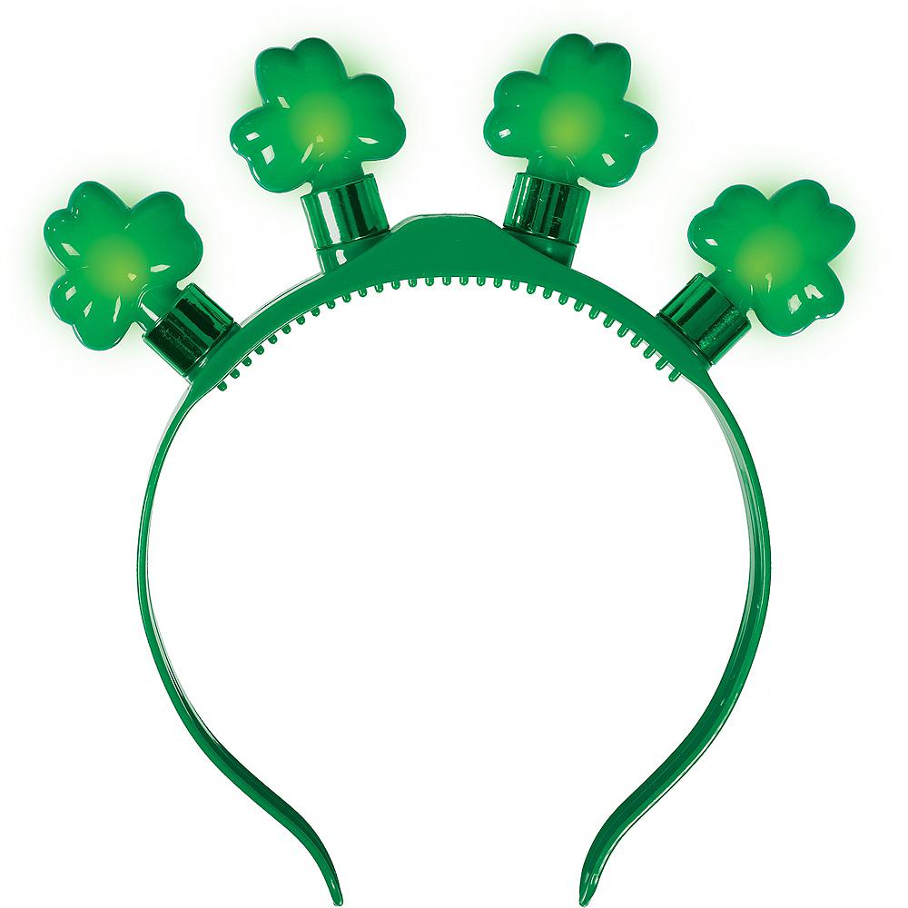 Light-Up Shamrock Headband Image #1