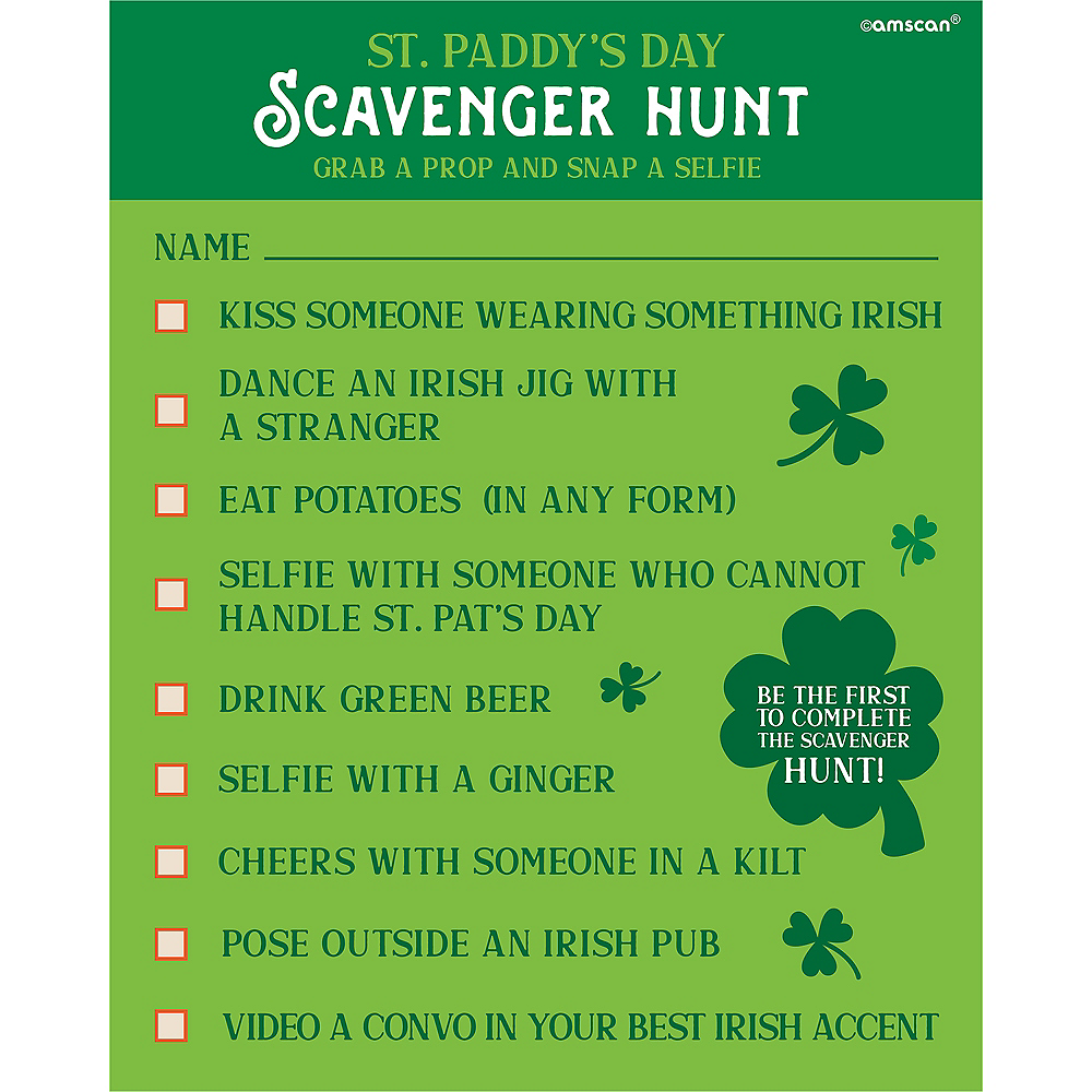 St. Patrick's Day Scavenger Hunt with Photo Props Image #1