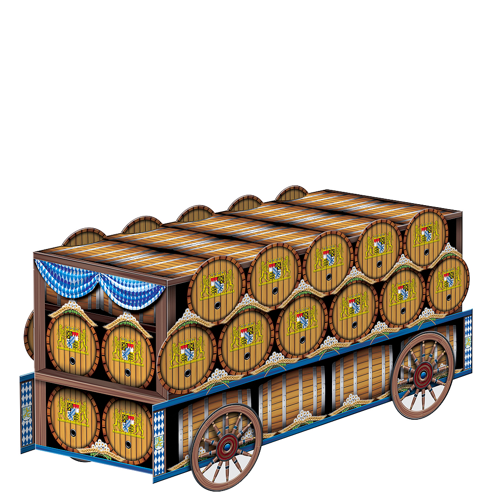 3D Beer Wagon Centerpiece Image #1