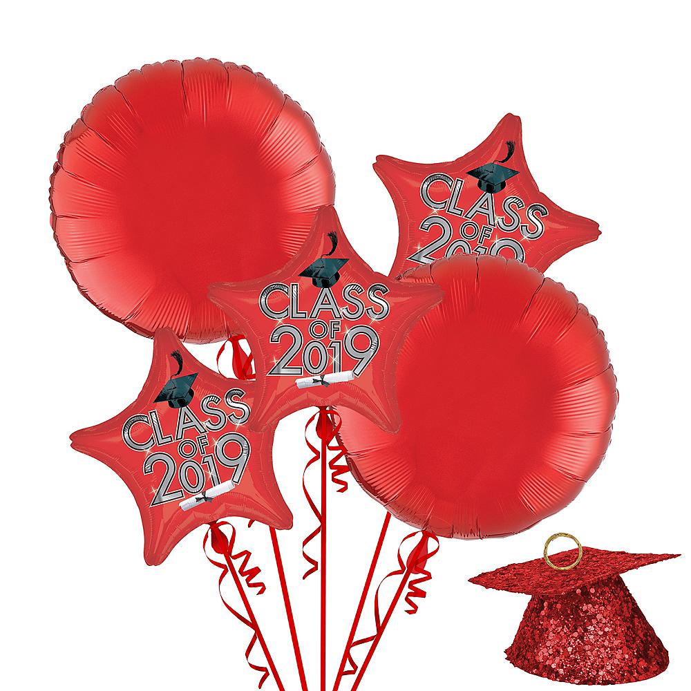 Red Class of 2019 Graduation Balloon Kit Image #1